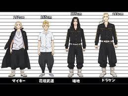 東京リベンジャーズキャラの身長が一番高いのは?意外にもみな小さい
